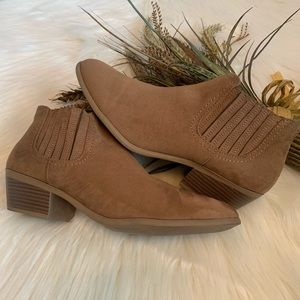 American Eagle Brown Faux Suede Ankle Booties 11